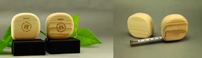 木の巻尺イメージ